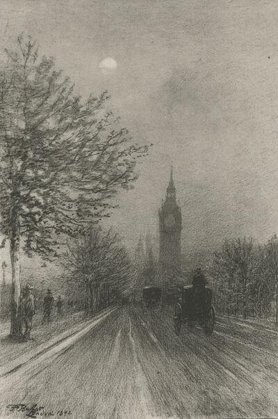 Félix Hilaire Buhot, 'The Embankment Westminster', 1892