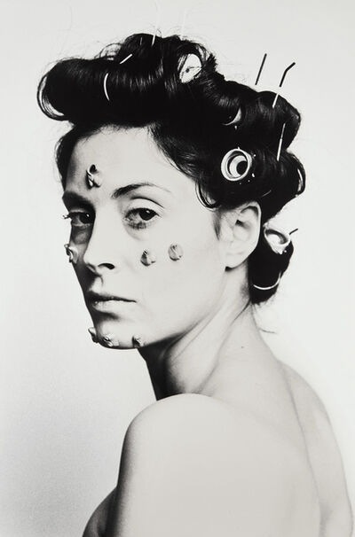 Hannah Wilke, 'S.O.S. Starification Object Series (Performalist Self-Portrait with Les Wollam)', 1974