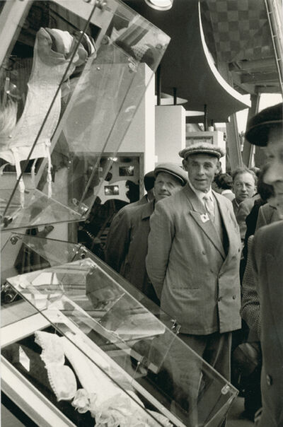 Henri Cartier-Bresson, 'Men Admiring Lingerie Display, Brussels World Fair', 1958