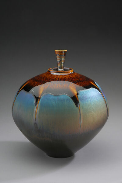 Hideaki Miyamura, 'Jar, brown and blue hare's fur glaze', 2019