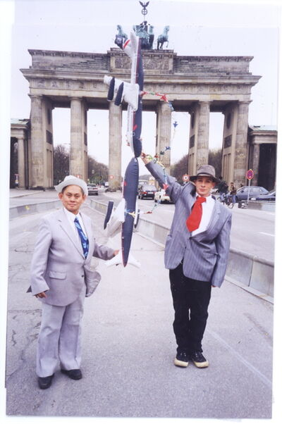 Mondriaan FanClub, 'B, Brandenburg Gate, Berlin, 1997', 1997