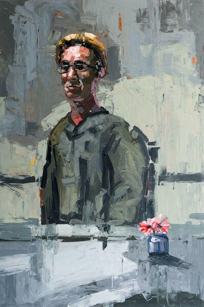 Adrian Socorro, 'Hombre y flor / Man and flower', 2019