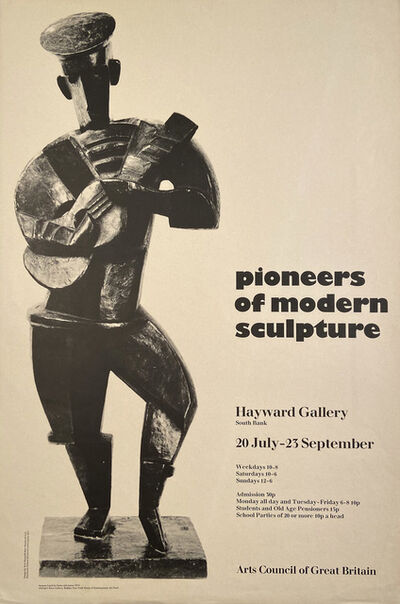 "Jacques Lipchitz, '""Pioneers of Modern Sculpture"", Hayward Gallery, London', 1973"