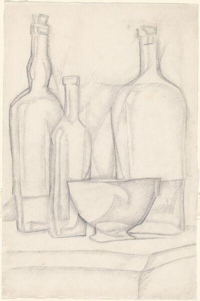 Juan Gris, 'Bottles and Bowl', 1911