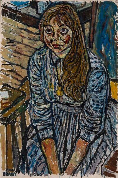 John Bratby, 'Portrait of a Seated Girl', 1960