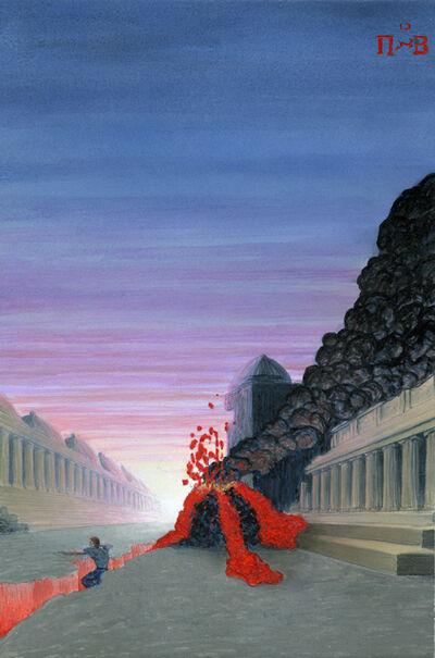 Jim Shaw, 'Dream Object: Paperback Cover (Eruption)', 2009