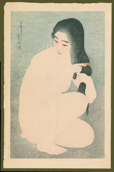 Kotondo Torii, 'Combing Her Hair', 1929
