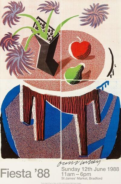 After David Hockney, 'A poster for Fiesta', 1988