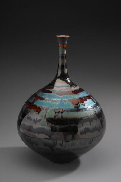 Hideaki Miyamura, 'Vase, blue waves glaze', 2019
