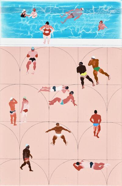 Yang-Tsung Fan, 'Swimming Pool Series-Pink Tiles', 2019