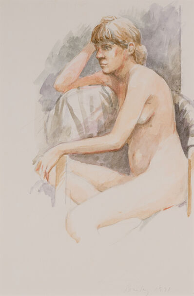 William Bailey, 'Seated Nude', 1991