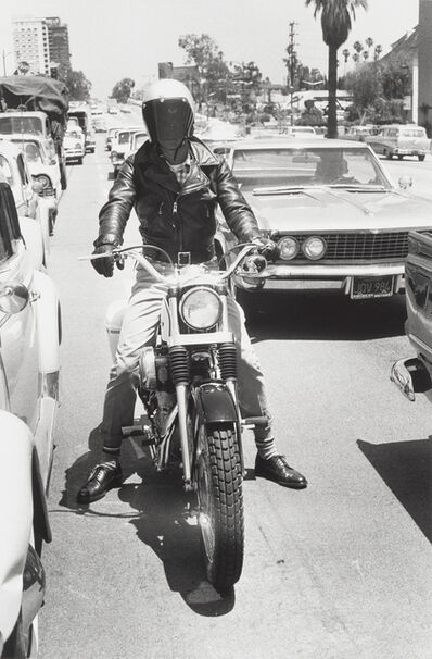 "Bruce Davidson, '""Untitled (Motorcycle and Rider)"" from Los Angeles', 1964"