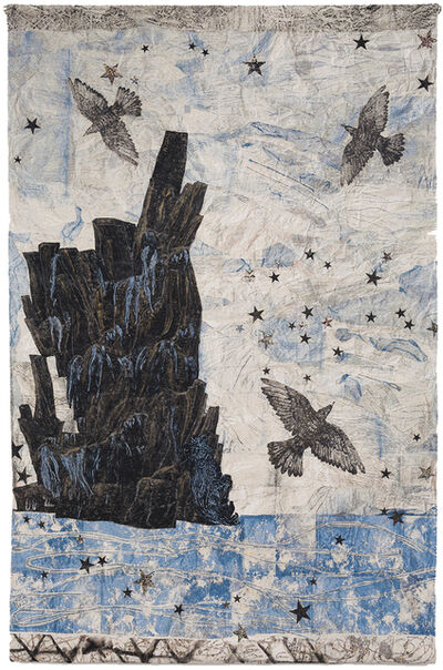 Kiki Smith, 'Harbor, (Ocean-rocks-birds)', 2015