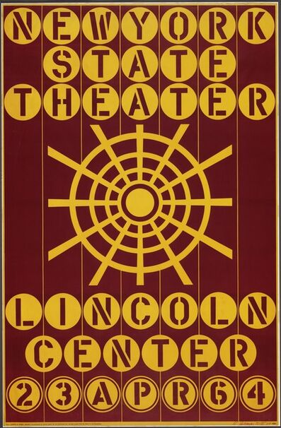 Robert Indiana, 'New York State Theater, Lincoln Center', 1964