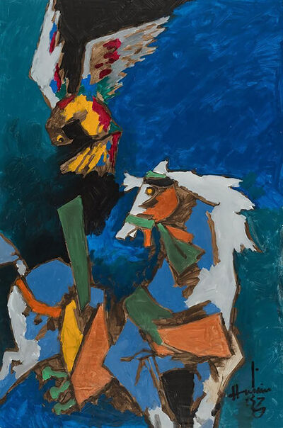 M. F. Husain, 'Untitled (Horse and Falcon)', Undated