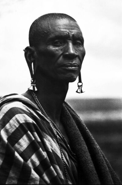 Mirella Ricciardi, 'Maasai Elder with elongated Ears ', ca. 1967
