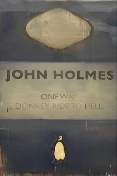 Harland Miller, 'One Way Donkey Ride to Hell', 2021