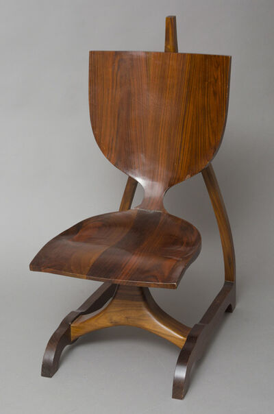 Jack Rogers Hopkins, 'Sculpted Walnut Chair', 20th/21st Century