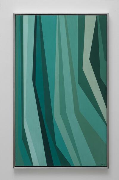 Karl Benjamin, 'Raw Umber Thalo Green', 1959