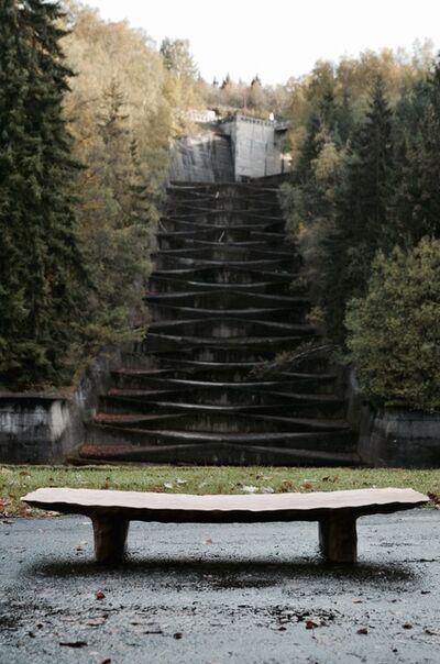 Kaspar Hamacher, 'High Chiseled Bench/ Table', 2018