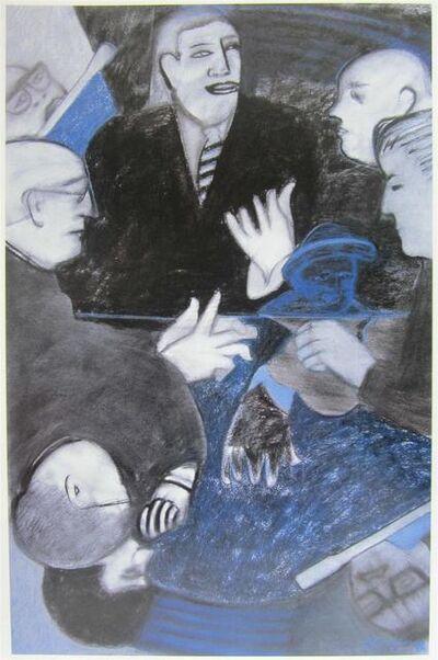 Beatriz González, 'Arco Iris Azul', 1991