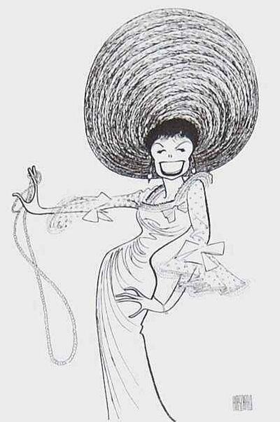Al Hirschfeld, 'Lena Horne', 1982