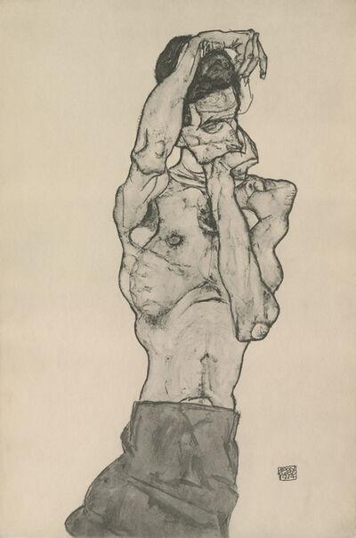 "Egon Schiele, '""Male Nude in Red Loincloth"", Zeichnungen (plate II)', 1917"