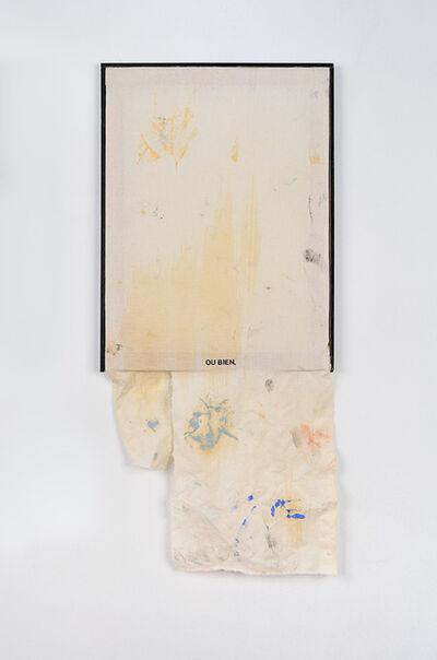 """Benoît Maire, 'Déchêt - peinture indexée """"ou bien""""', 2014"""