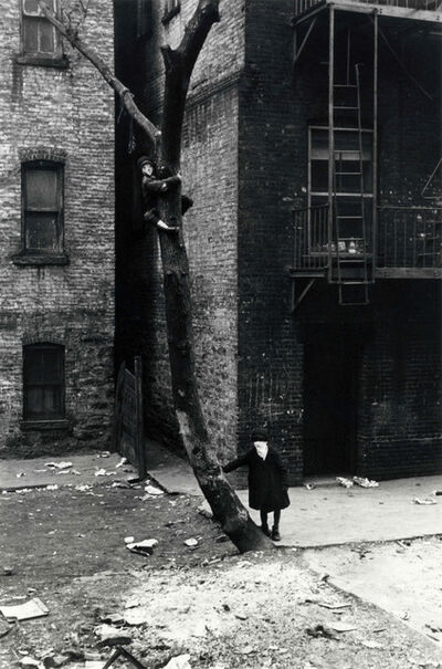 Helen Levitt, 'New York (masked kids playing at tree)', 1942