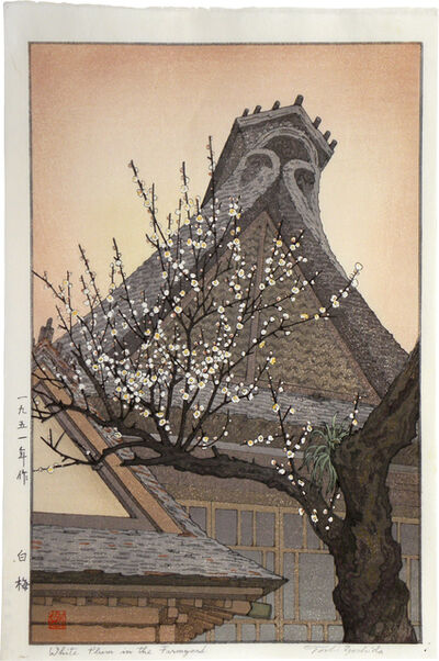 Toshi Yoshida, 'White Plum in the Farmyard', 1951