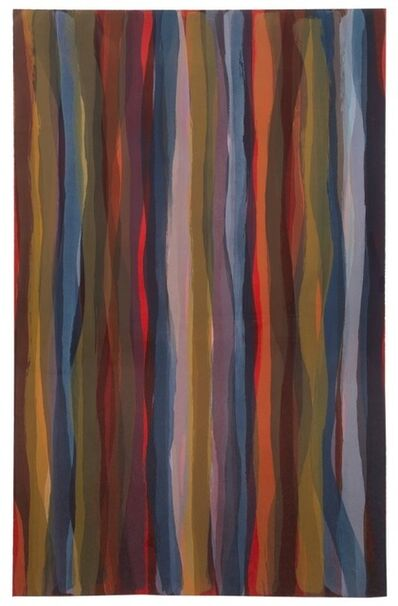 Sol LeWitt, 'Brushstrokes in Different Colors in Two Directions: Plate #04', 1993