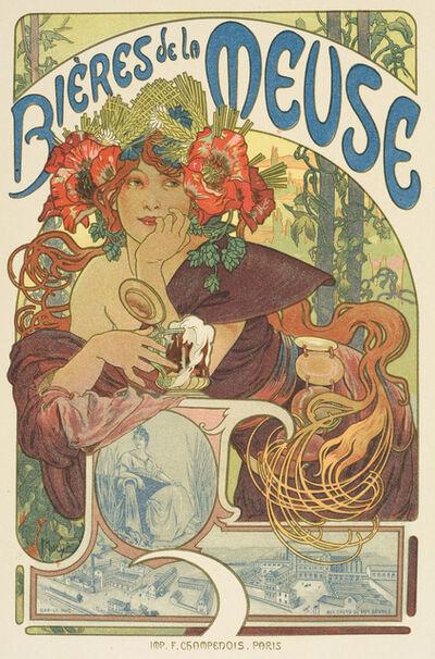 Alphonse Mucha, 'Bieres de la Meuse', 1899