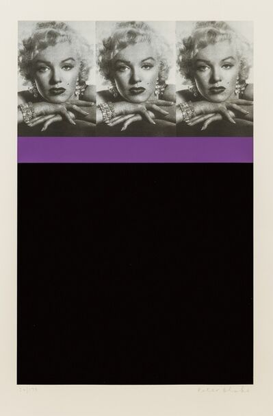 Peter Blake, 'Marilyn Monroe, Black', 2009