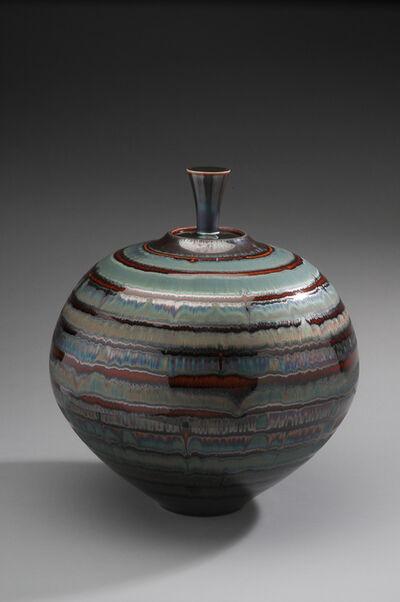 Hideaki Miyamura, 'Jar, blue waves glaze', 2019