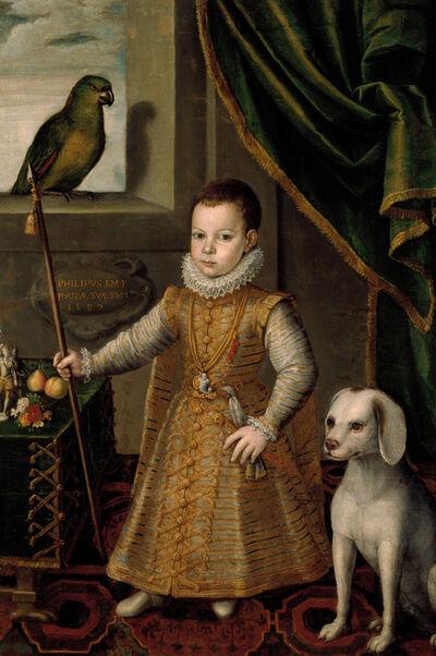 Jan Kraeck, 'Bildnis des Philipp Emanuel von Savoyen im Alter von knapp zwei Jahren', 1587