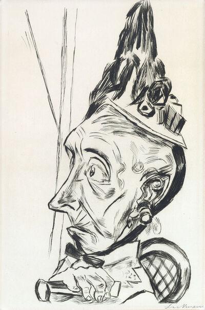 Max Beckmann, 'Alte Frau mit Kapothut', 1920