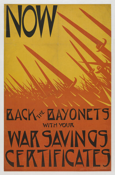 Christopher Richard Wynne Nevinson, 'Now Back the Bayonets', 1918