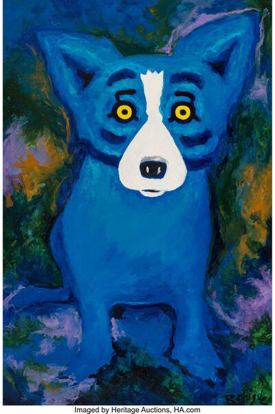 George Rodrigue, 'Swimming in the Blues'