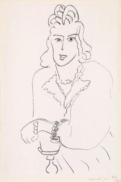Henri Matisse, 'Jeune Femme Coiffure Louis XV (Woman Hairdresser Louis XV) from Poèmes de Charles D'Orléans', 1942