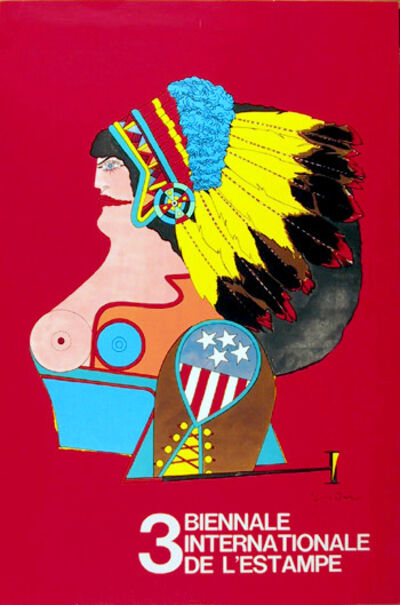 Richard Lindner, 'Miss American Indian #3 Biennale', 1970