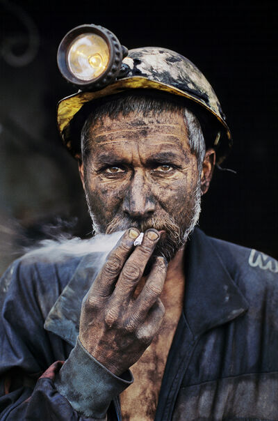 Steve McCurry, 'Smoking Coal Miner, Pol-e-Khomri, Afghanistan, 2002', 2002