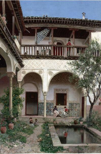 Martin Rico y Ortega, 'A Spanish Courtyard', 19th Century
