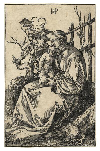 Hans Sebald Beham, 'Die hl. Jungfrau mit dem Kind und einer Birne auf einer Rasenbank – The Virgin and Child with a Pear on a Grassy Bench', 1521