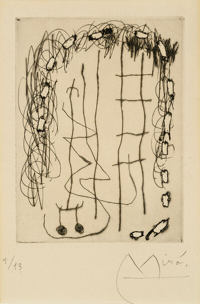 Joan Miró, 'Flux de l'aimant', 1965