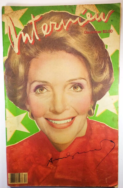 """Andy Warhol, ' """"Nancy Reagan"""", 1981, SIGNED, INTERVIEW Magazine.', 1981"""