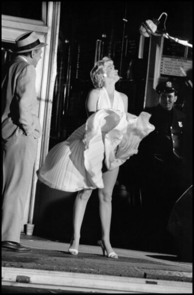 "Elliott Erwitt, 'Marilyn Monroe on the set of ""The Seven Year Itch""', 1954"