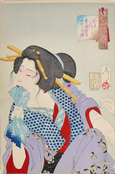 Tsukioka Yoshitoshi, 'Painful: the Appearance of a Prostitute of the Kansei era (1789-1801)', 1888