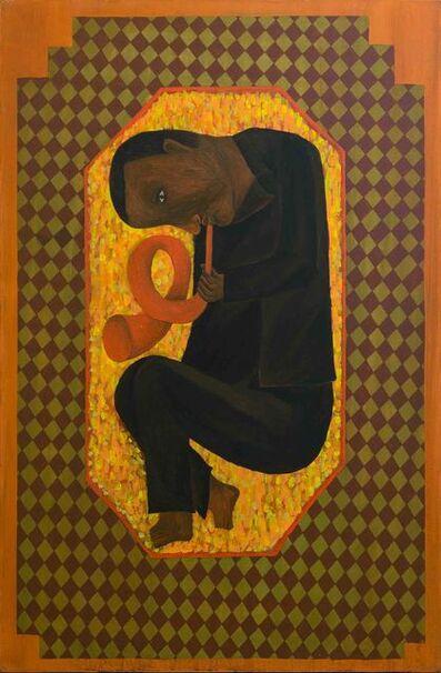 Salah Elmur, 'The Trumpeter / عازف البوق', 2017