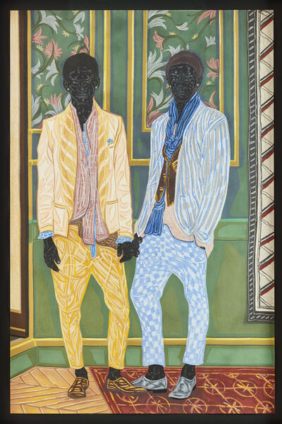 Toyin Ojih Odutola, 'Newlyweds on Holiday', 2016