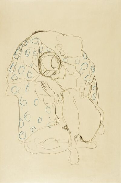 "Gustav Klimt, 'Lovers, Study for ""Death and Life""', 1908-1911"